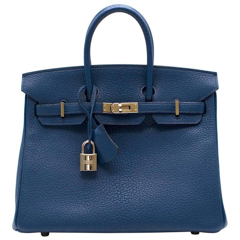 Hermes Thalassa Togo Leather 25cm Birkin Bag - Special Order For Sale
