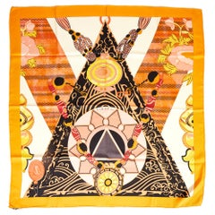 Hermes Tibet II By Latham Orange Scarf