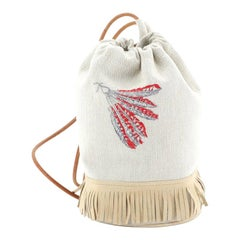 Hermes Tipi Sling Bag Toile with Suede
