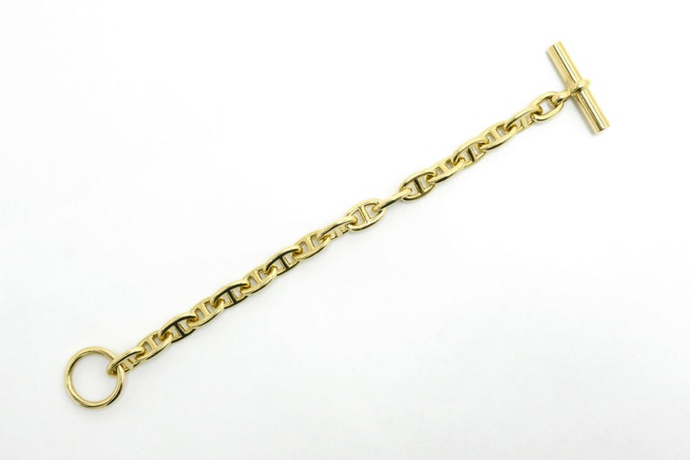 Hermes Toggle Bracelet Mariner Anchor Chaine d'Ancre Vendôme French 18K Gold For Sale 2