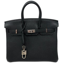 Hermes Togo Black Birkin 25 New