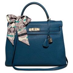 Hermes Togo Kelly Retourne 35 Cobalt Blue PDH