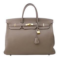 Hermes Togo Leather 40cm Birkin in Etoupe