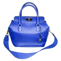 Hermes Toolbox 26 Electric Blue Veau Swift Leather PHW