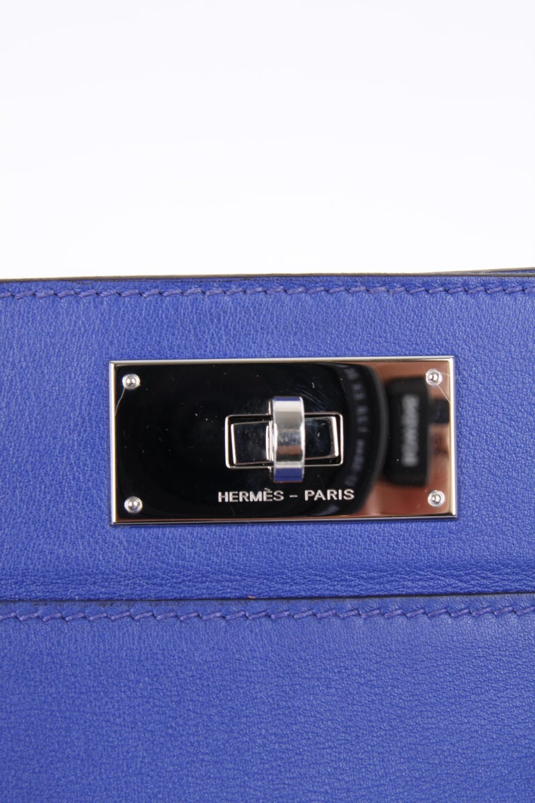 Hermes Toolbox 26 Swift Leather Electric Blue For Sale 4