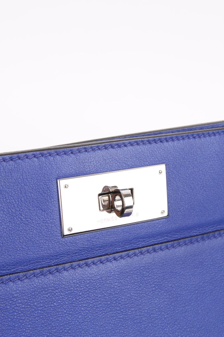 Hermes Toolbox 26 Swift Leather Electric Blue For Sale 5