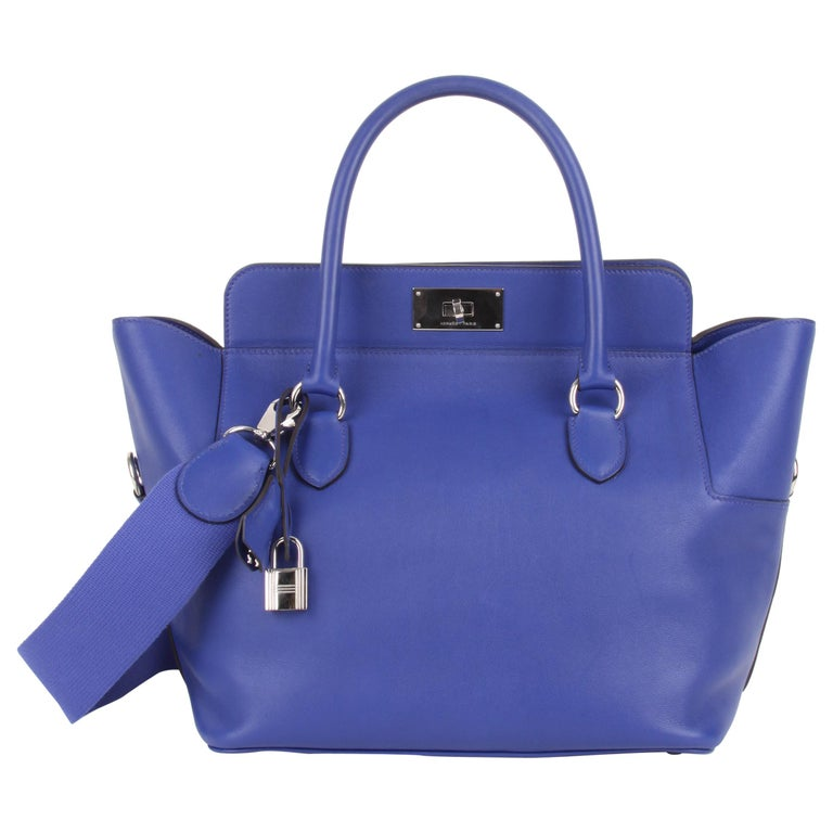 Hermes Toolbox 26 Swift Leather Electric Blue For Sale