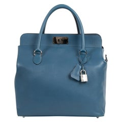 Hermès Toolbox 33 Veau Evercolor Bleu De Galice