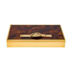 Hermès Tortoise Belt-Buckle Box