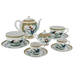 """Hermes """"Toucan"""" Coffee Set and Dejeuner Cup"""