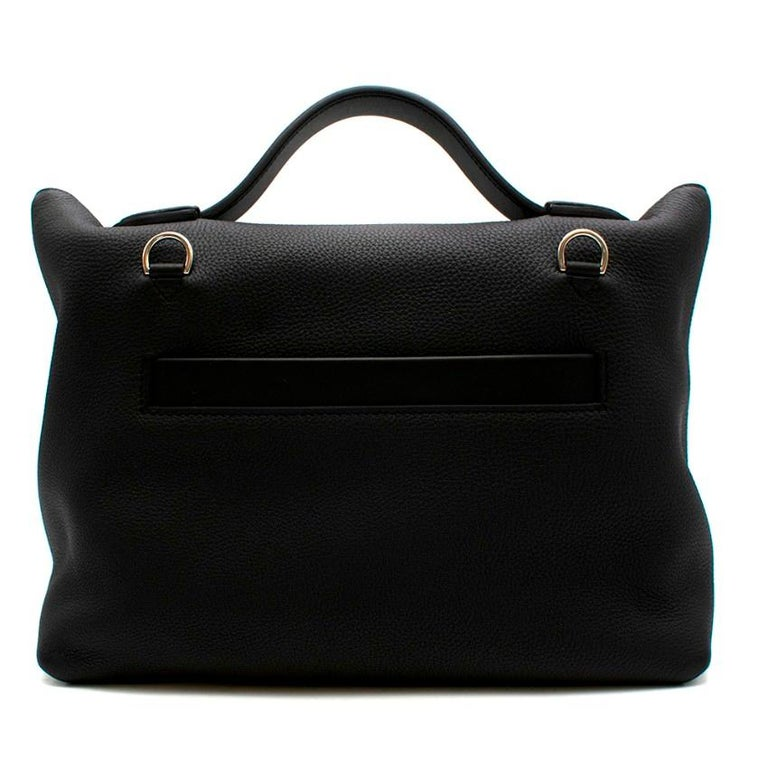 Hermes Touch 24-24 29 Bag in Black Togo/Matte Alligator PHW  In New Condition For Sale In London, GB