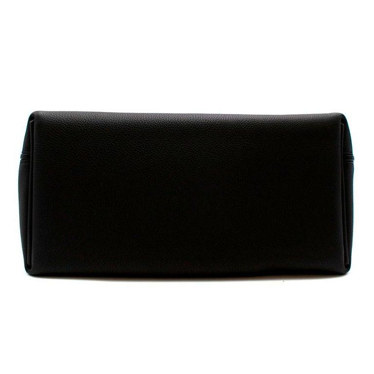 Hermes Touch 24-24 29 Bag in Black Togo/Matte Alligator PHW  For Sale 1