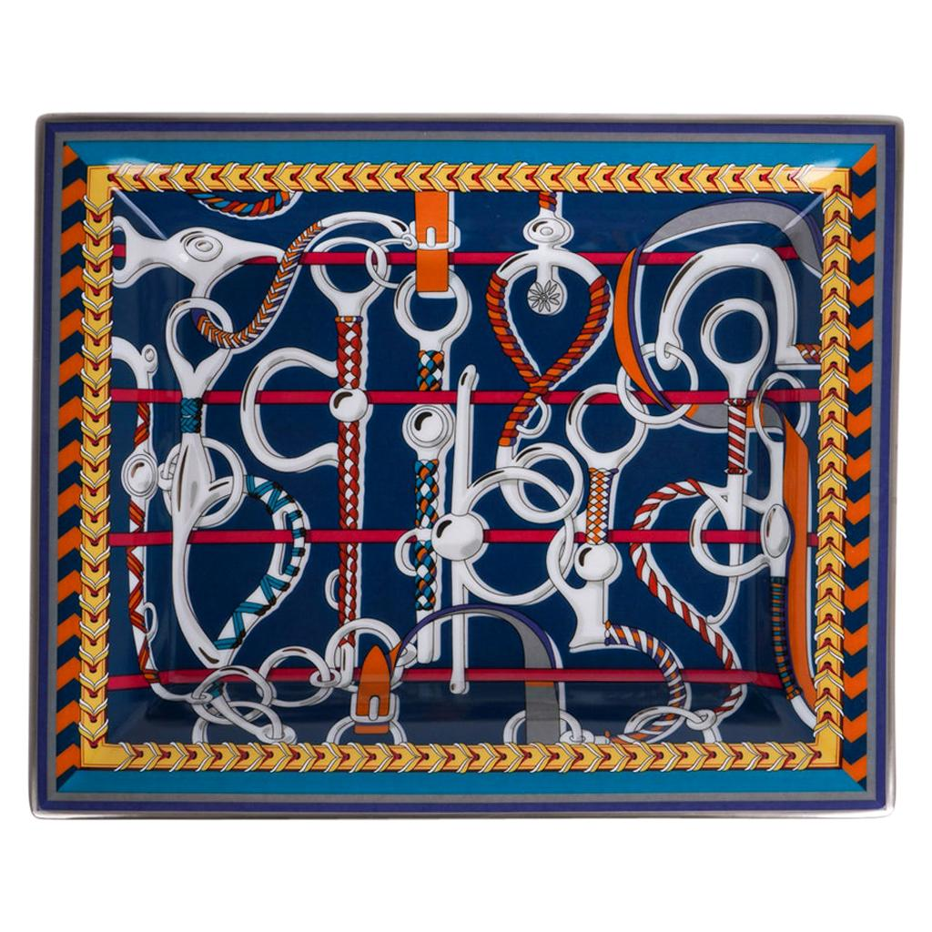 Hermes Tray Panoplie Equestre Limoges Porcelain New w/Box