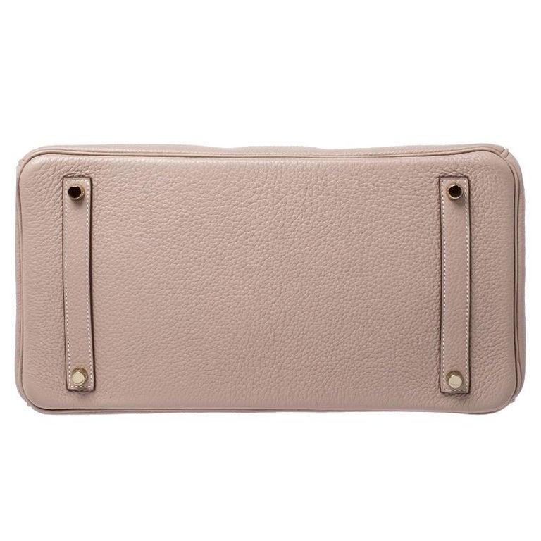Women's Hermes Trench Togo Leather Gold Hardware Birkin 35 Bag For Sale