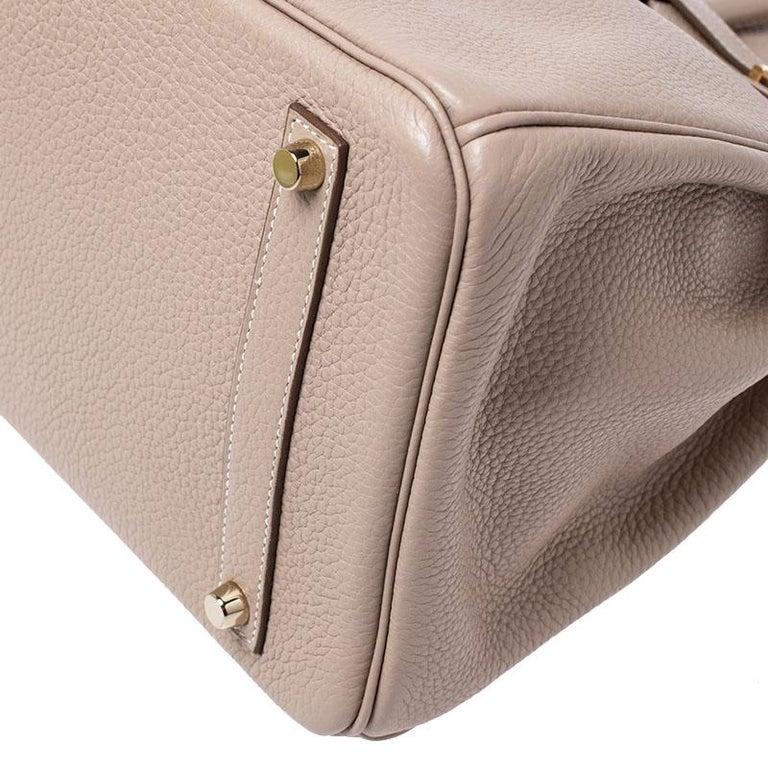 Hermes Trench Togo Leather Gold Hardware Birkin 35 Bag For Sale 1