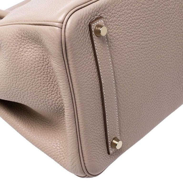 Hermes Trench Togo Leather Gold Hardware Birkin 35 Bag For Sale 2
