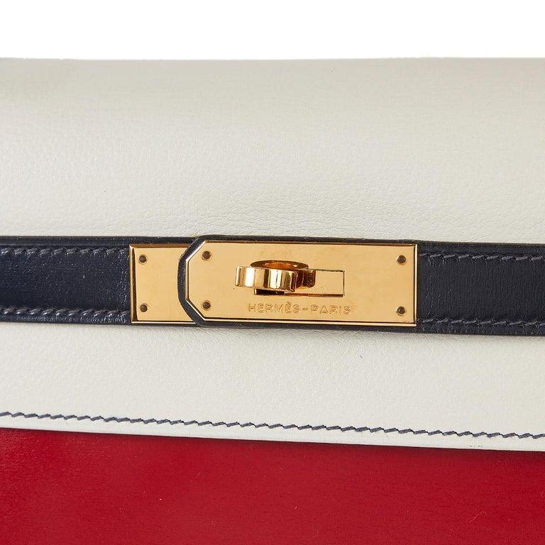 Hermès Tri-Colour Sellier 32cm Kelly Bag For Sale 7