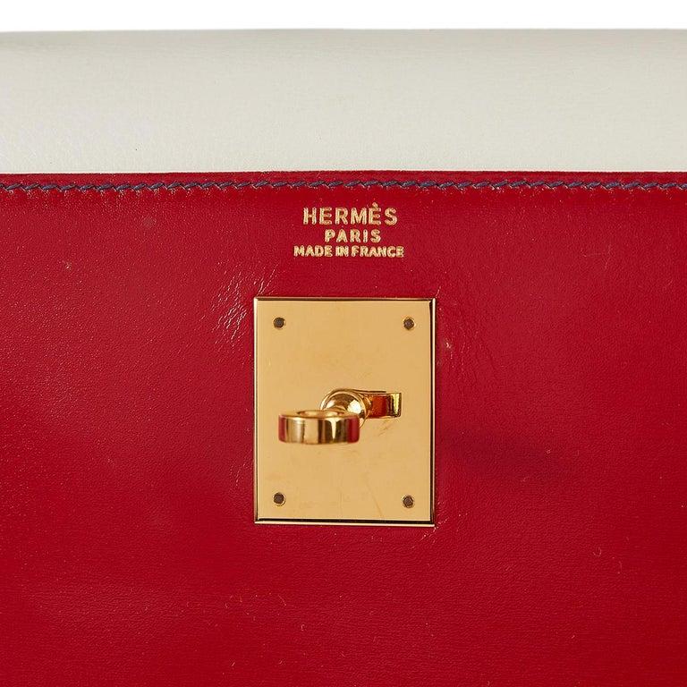 Hermès Tri-Colour Sellier 32cm Kelly Bag For Sale 9