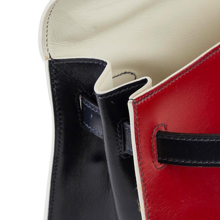Hermès Tri-Colour Sellier 32cm Kelly Bag For Sale 10