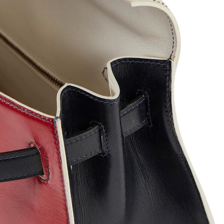 Hermès Tri-Colour Sellier 32cm Kelly Bag For Sale 12