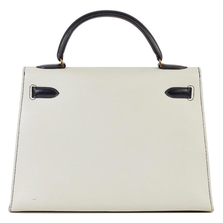 Red Hermès Tri-Colour Sellier 32cm Kelly Bag For Sale