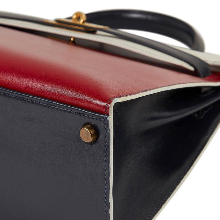 Hermès Tri-Colour Sellier 32cm Kelly Bag For Sale 2