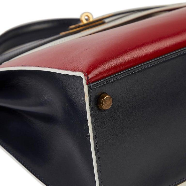 Hermès Tri-Colour Sellier 32cm Kelly Bag For Sale 3