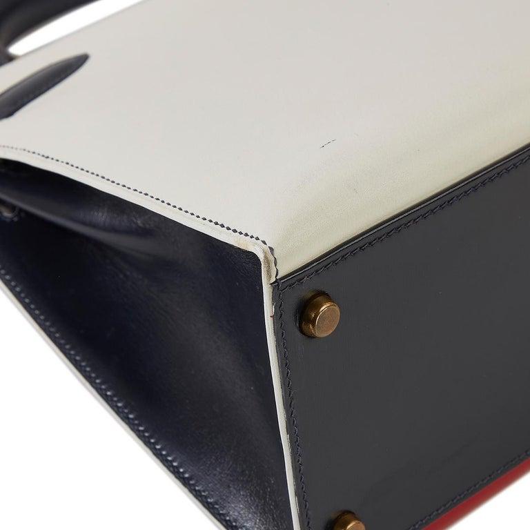 Hermès Tri-Colour Sellier 32cm Kelly Bag For Sale 4