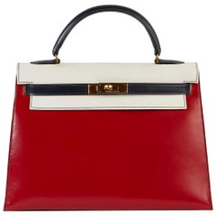 Hermès Tri-Colour Sellier 32cm Kelly Bag