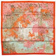 Hermès Tropical Garden Silk Scarf