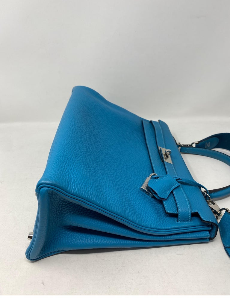 Hermes Turquoise Kelly II Retourne 35 Bag For Sale 3