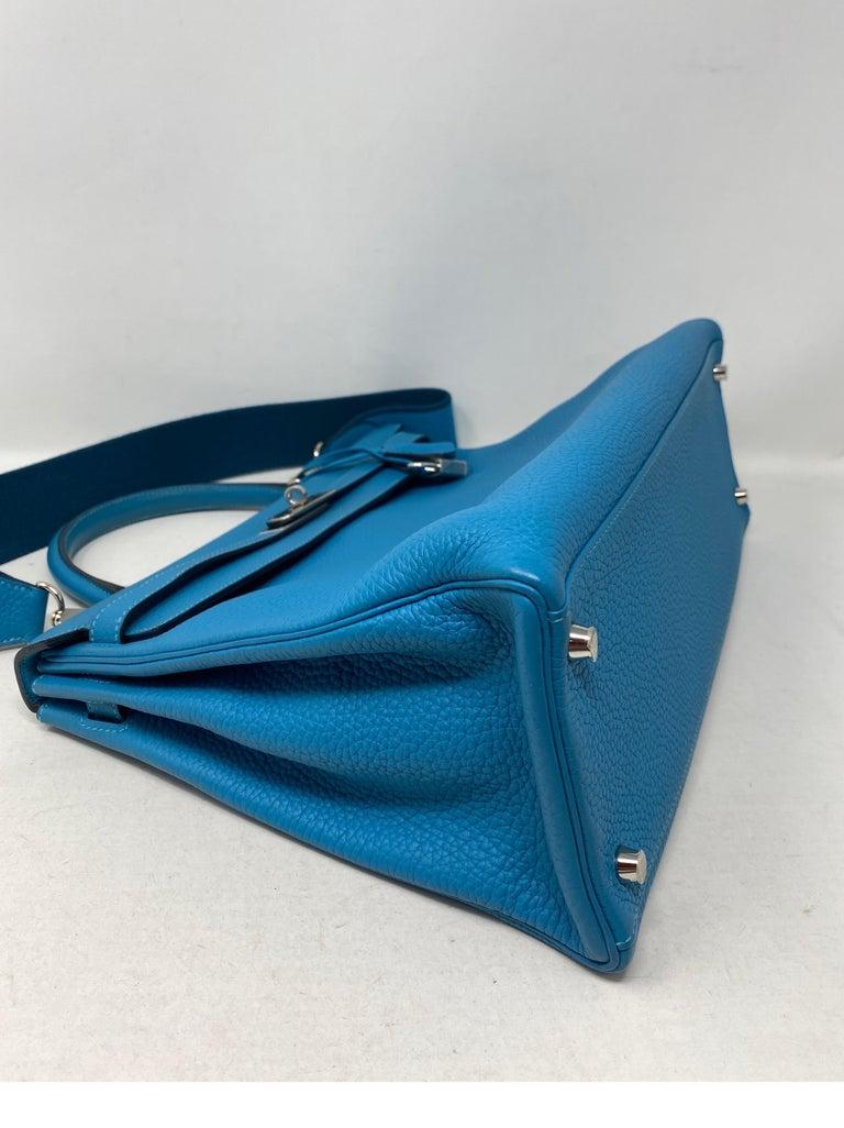 Hermes Turquoise Kelly II Retourne 35 Bag For Sale 4