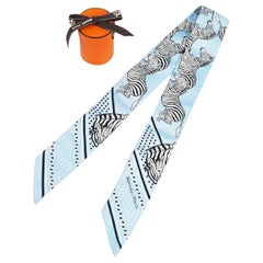 HERMES Twilly zebra pattern Womens scarf Color