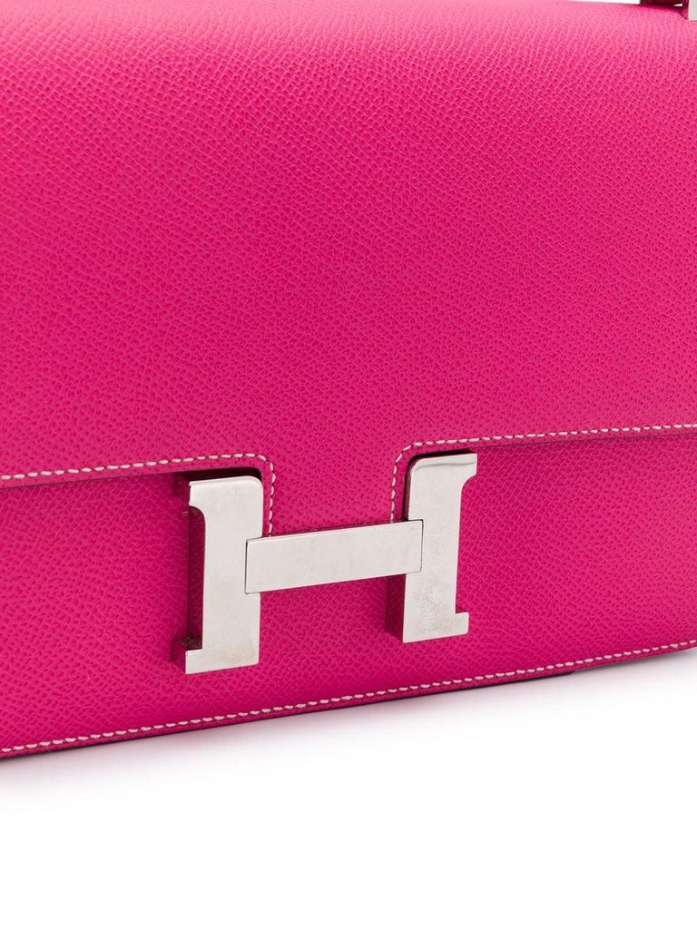 Women's Hermès Tyrien Pink Epsom Leather Constance Elan Bag For Sale