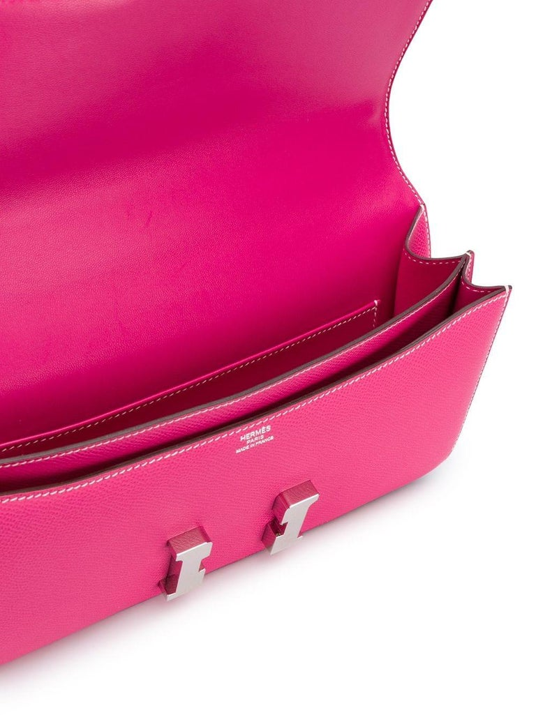Hermès Tyrien Pink Epsom Leather Constance Elan Bag For Sale 1