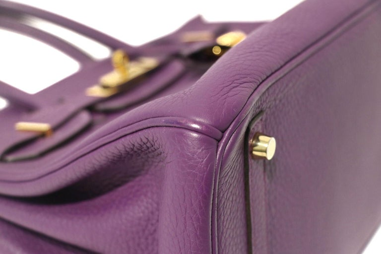 Women's Hermes Ultra Violet Togo 30 cm Birkin Bag with GHW For Sale