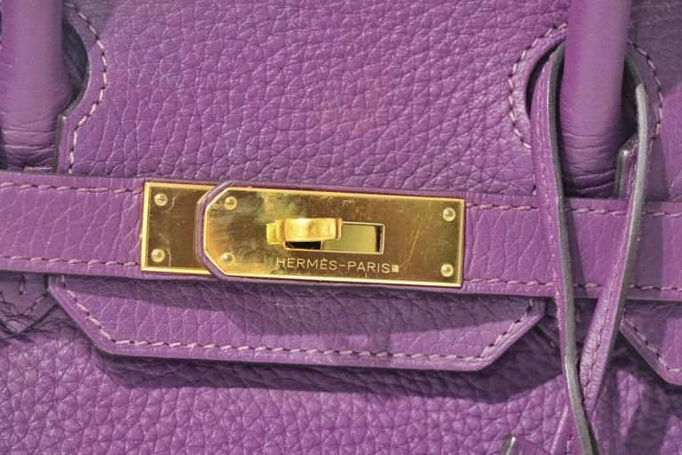 Hermes Ultra Violet Togo 30 cm Birkin Bag with GHW For Sale 1