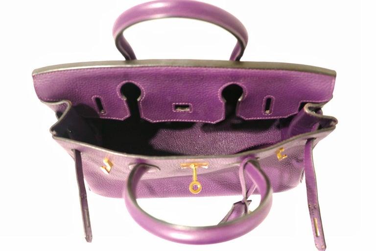 Hermes Ultra Violet Togo 30 cm Birkin Bag with GHW For Sale 2