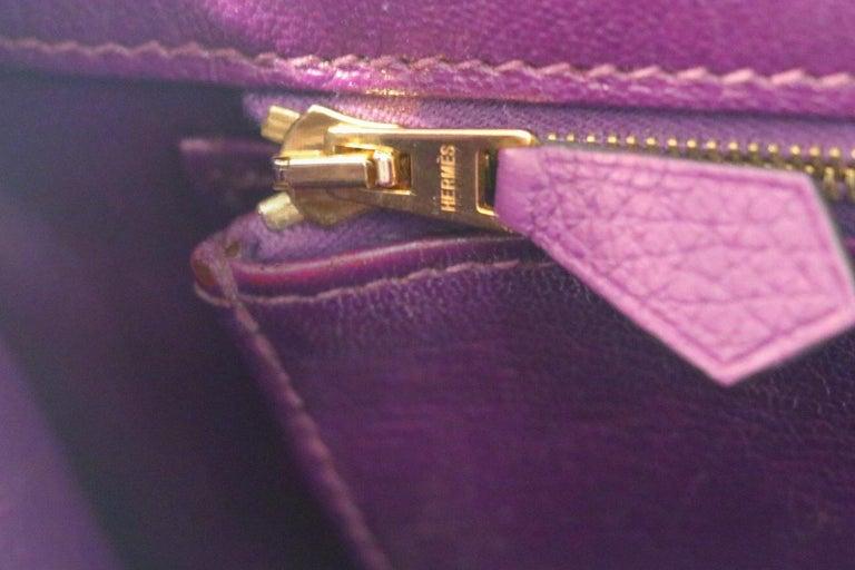 Hermes Ultra Violet Togo 30 cm Birkin Bag with GHW For Sale 3