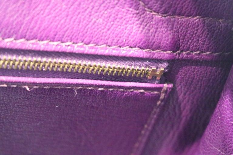 Hermes Ultra Violet Togo 30 cm Birkin Bag with GHW For Sale 4