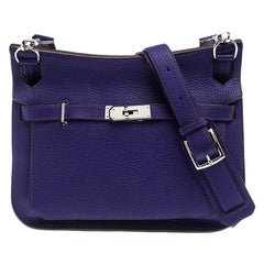 Hermes Ultraviolet Clemence Leather Palladium Hardware Jypsiere 28 Bag