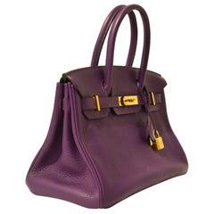 Hermès Ultraviolet Togo 30 cm Birkin