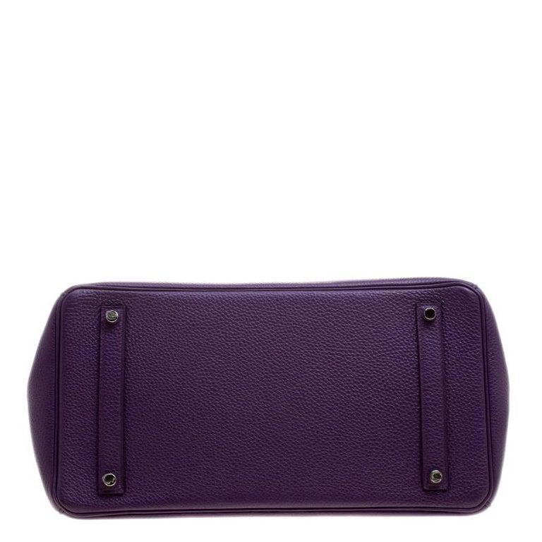 Women's Hermes Ultraviolet Togo Leather Palladium Hardware Birkin 35 Bag For Sale