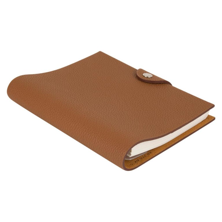 Women's or Men's Hermes Ulysse PM Agenda Cover Gold Togo with Refill For Sale