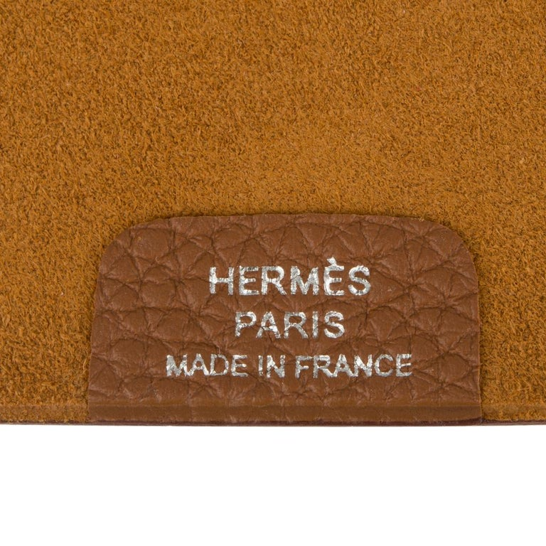 Hermes Ulysse PM Agenda Cover Gold Togo with Refill For Sale 1