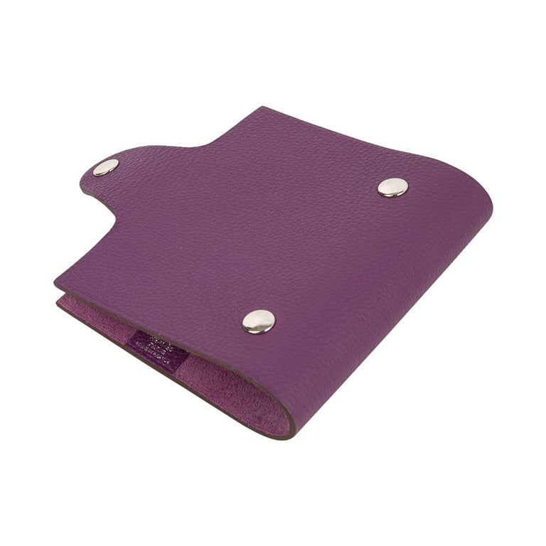 Hermes Ulysse Notebook Cover Anemone Mini Model  For Sale 1