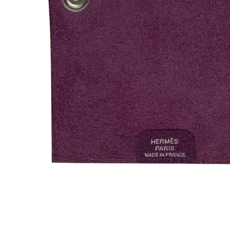 Hermes Ulysse Notebook Cover Anemone Mini Model  For Sale 3