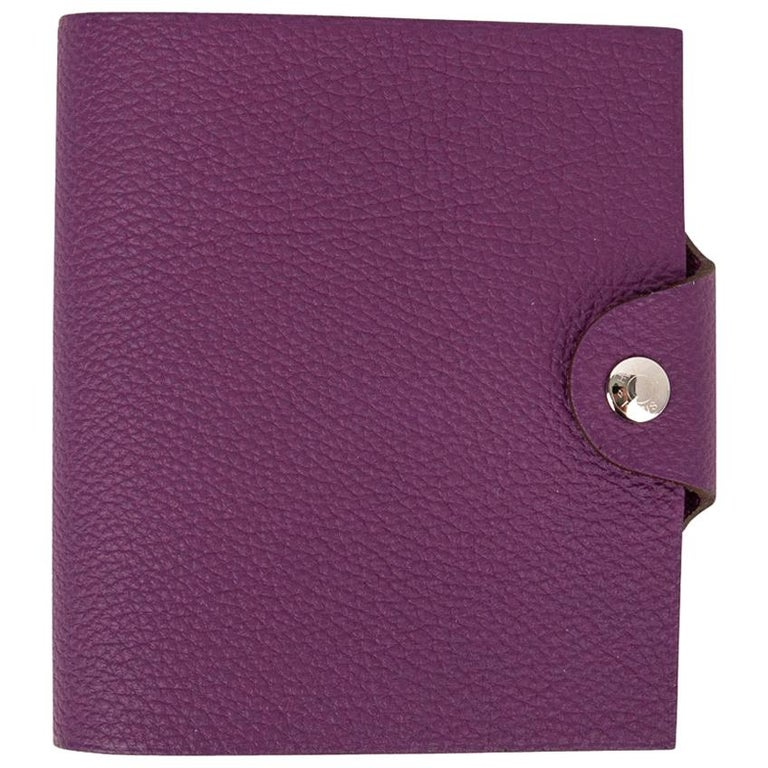 Hermes Ulysse Notebook Cover Anemone Mini Model  For Sale