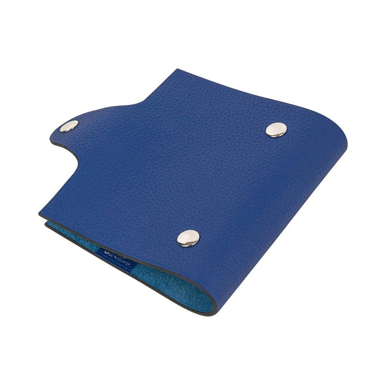 Hermes Ulysse Notebook Cover Blue Electric Mini Model  For Sale 1