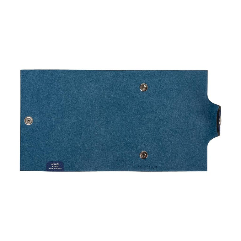 Hermes Ulysse Notebook Cover Blue Electric Mini Model  For Sale 3
